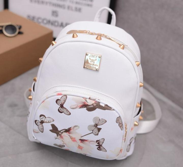 Women new Fashion Backpacks Travel Ladies Handbags School bags Printed,crazy purchase,Good Quality white free one