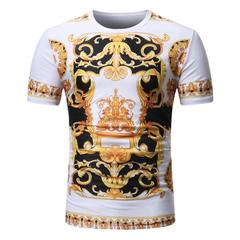 Mens Beach Hawaiian Shirt  Short Sleeve Men Clothing Casual Loose Cotton Button Down  Plus Size CF-01 m  (50kg-58kg) 100%cotton