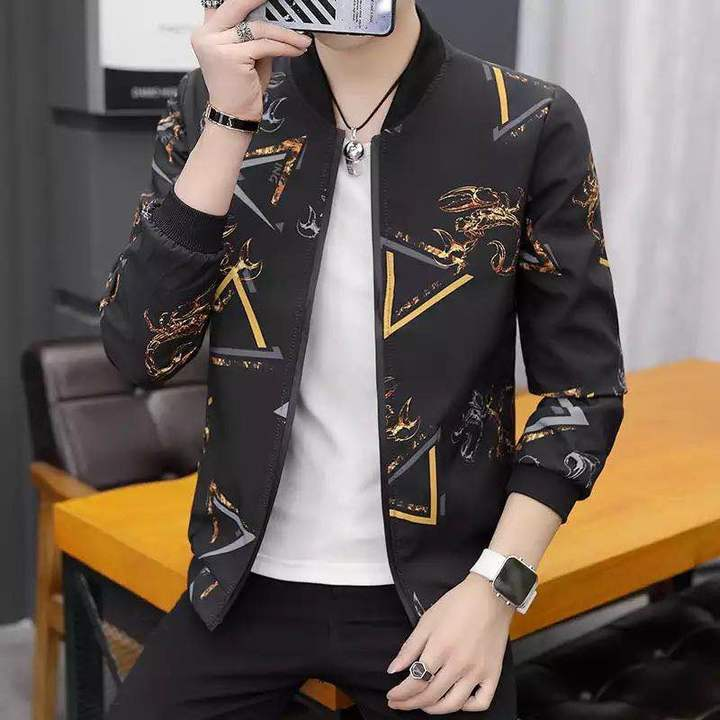 Printing Fashion 2019 Brand Mens Bomber Thin  Jackets Casual Shirt Coat Overcoat For Male Clothing Scorpion 4xl  (88kg-100kg)