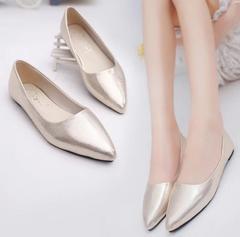 Women Shoes  Casual Shoe Flats Pointed Toe Women's Shoes Moccasins Ballet Flats Flat Shoes Ballerina gold 36 (uk 4)