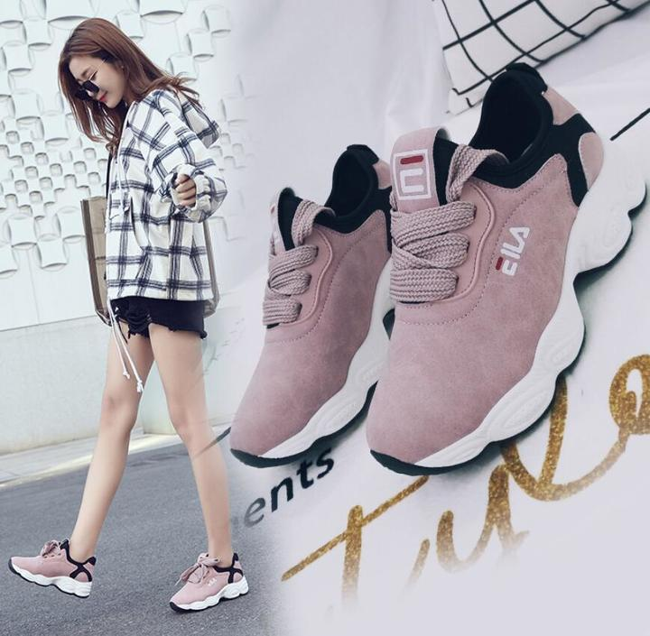 women tennis shoes breathable fitness fabric sneakers female sport shoes walking jogging footwear pink 39(uk6.0)
