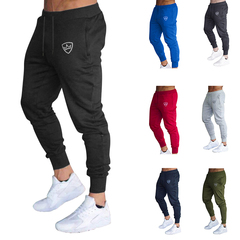 2019 summer New Fashion Thin section Pants Men Casual Trouser Jogger Bodybuilding Fitness Sweatpants Blue 4XL ( See size Table deatil)