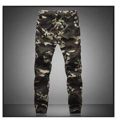 M-5XL 2019 Mens Jogger  Pencil Harem Pants Camouflage Military Pants Loose Comfortable  Trousers Green s ( see size table deatil)