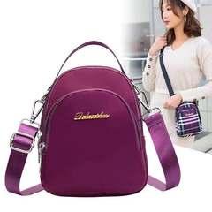 Fashion Women's Bags Purple Wallets Cross-Body  Shoulder  Longo Mobile Phone  Wallet Cross Bucket Purple one
