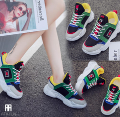 Hot Sale Sport women shoes cushion  Running shoes women Sneakers women Walking Trainers breathable red 36(uk4.5)