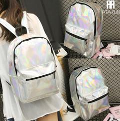 Fashion New Backpack Women bag Multi Pocket Travel lady handbag School Bag for Teenage Girls Glossy gold free one