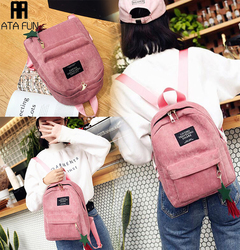 Women bag Hot Travel Backpack Fashion Canvas Tassel School Bags Large Capacity Backpack lady handbag gray1 free one
