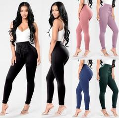 2019 Plus size New women pants Fashion Slim Skinny Women Trouser High Waist Stretch Sexy Leggings black s (see product  detail table)