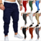 9 Colour ! Men Pants Hip Hop Harem Joggers Pants 2019  Male Trousers  Solid Multi-pocket  Sweatpants Deep Blue xl ( see size table deatil)