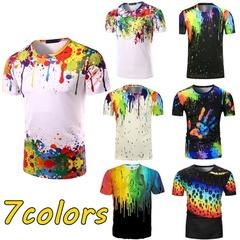 Fantastic Show Unisex 3D Printed Crewneck Short Sleeve T-Shirt Top Tee Men Shirts Dress Multicolor s (45kg-50kg) cotton