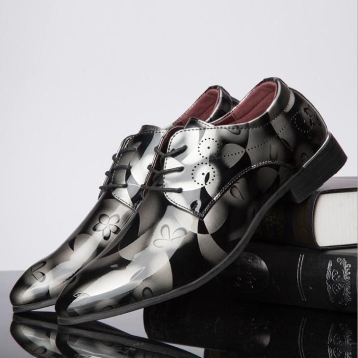 formal shoes men oxfords factory outlet leather shoes brand trend men wedding shoes Size 38~48 Black 39