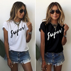 New promotion Crazy Purchase Women Printed Tops Casual women T-shirts Plus Size women tops super-white s ( product detail table)