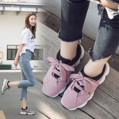 Fashion New lady shoes new bowknot Ladies Flats Shoes  Round Toe Flat Heel Casual women shoes pink 36 (uk 4)