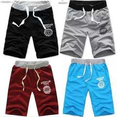 Luck Sun mens beach pants New sport shorts causal trouser five  in the tide loose large size tide Black M (30)