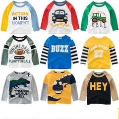 Cartoon Boys Long Sleeve T shirt For 2-7 years Cotton Children Kids Clothes Tops T-shirt Clothing Action 80cm 18month-2 year cotton