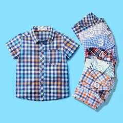 Childrem Clothing Boys Plain Short Sleeve Shirt Party Polka Dot Kids Clothes Toddler Short Causal 2 80cm 18month-2 year