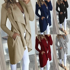 Free shipping NEW Spring ladies coat Fashion women Jacket Pocket two side women coat outwear loose Khaki 5xl ( product detail table)