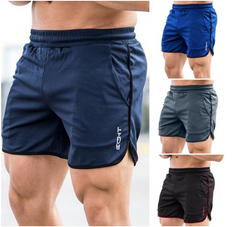 Men Shorts Jogging Bodybuilding Muscle Workout Sports Sportswear Fitness Exercise Gym Shorts Clothes blue xxl/185/110