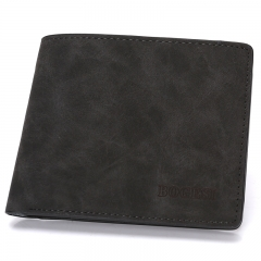 Men's new wallet bags with short leather purses black normal