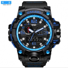 New fashion sports multi-function electronic watch, lovers Watch black+blue normal