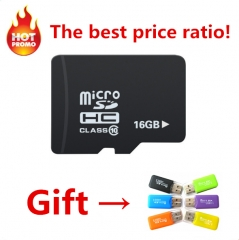 Ultra high read and write speed 16Gtf card, C10 mobile phone storage card, sending card reader. black micro / sd 16G high speed