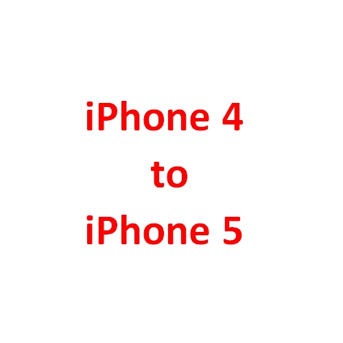 Change the iPhone 4 order to iPhone 5 black