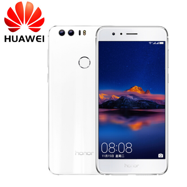 Certified Refurbished: Huawei honor 8 - 5.2 Inch - 4GB+64GB - Double12MP + 8MP - 3000 mAh battery white (4g+64g) Standard version
