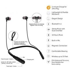 Fitness Headset Wireless Bluetooth Earphones Neckband Sports Headphones For IPhone Samsung Gionee black