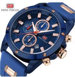 Mini Focus Men Top Luxury Famous Male Clock Quartz Watch Wristwatch Quartz Watch blue normal