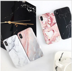 Marble Phone Case  For iPhone X 7 6 6S 8 Plus 6 S Case Cover XR XS Coque Silicon iPhone Cases Black black iphone 6 p / 6s p