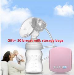 Electric Breast Pump Nursing Bottle automatic massage postpartum galactagogue pink general