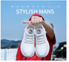 Men's Sneakers Air Mesh Breathable Men Trainers Shoes Hot  Fashion Outdoor Jogging Men Running Shoes white 39