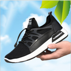 Men's Fashion Sports Sneakers /Flexible Athletic Casual Shoes black 39