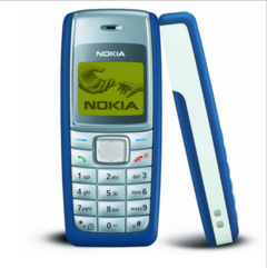 Nokia 1110 Long Standby Loud Voice Mobile Phone Classic Straight Cell Phone Color Screen blue black