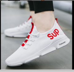 Fashion Sneakers Men Air Mesh Breathable New Fashion Outdoor Jogging Men Running Shoes white 39