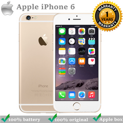 Refurbished iPhone6 : iPhone 6 -64GB+1GB -8 MP+1.2 MP- 4.7 Inch+4G network + fingerprint unlock gold