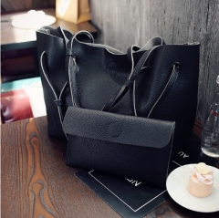 Isable handbag bag wallet fashionable  women tote bags  leisure all-match black 1