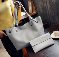 Isable handbag bag wallet fashionable  women tote bags  leisure all-match gray 1