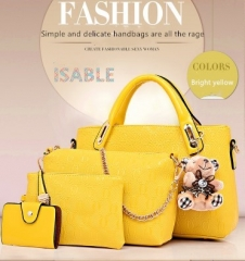 Isable Handbag 5 colors Classic Fashion Women Luxury Handbag PU Leather Genuine Bags yellow 1