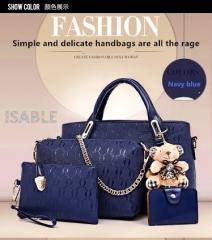 Isable Handbag 5 colors Classic Fashion Women Luxury Handbag PU Leather Genuine Bags blue 1