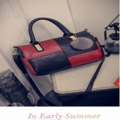 Isable Leather Women Handbags Luxury Pu Shoulder Bag Desi black 1