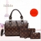 Isable Printed three-piece set of high-end high-volume fashion classic lady pu leather black 1