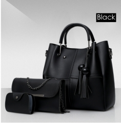 Isable Handbags, fashion classics, high quality women, three pieces of sleeve bags. black 1