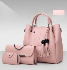 Isable Handbags, fashion classics, high quality women, three pieces of sleeve bags. pink 1