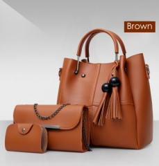 Isable Handbags, fashion classics, high quality women, three pieces of sleeve bags. brown 1