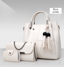 Isable Handbags, fashion classics, high quality women, three pieces of sleeve bags. white 1