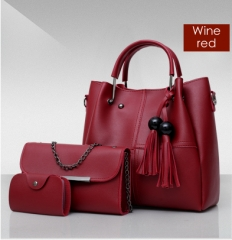 Isable Handbags, fashion classics, high quality women, three pieces of sleeve bags. red 1