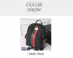 high quality PU leather women backpack vintage backpack casual bags female travel bag black 1