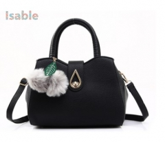 Isable 8 kinds of color high-end Pu portable large capacity small ball show cute. black 1