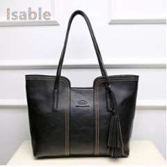 ISBALE HUGE CAPACITY High End Bag shoulder crossbody bag for Women Lady European America popular bag black 1